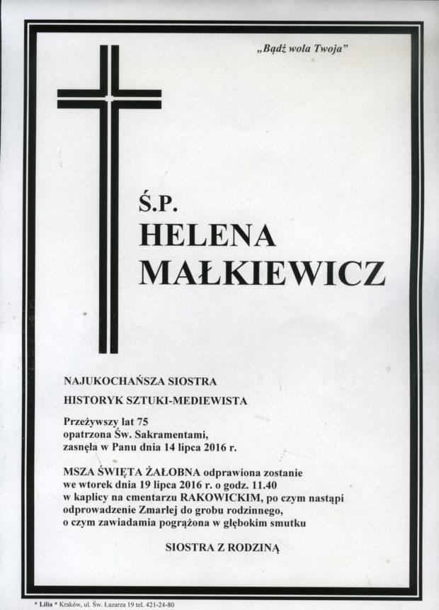 śp. Helena Małkiewicz